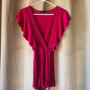 One clothing LA pink/magenta romper size xs